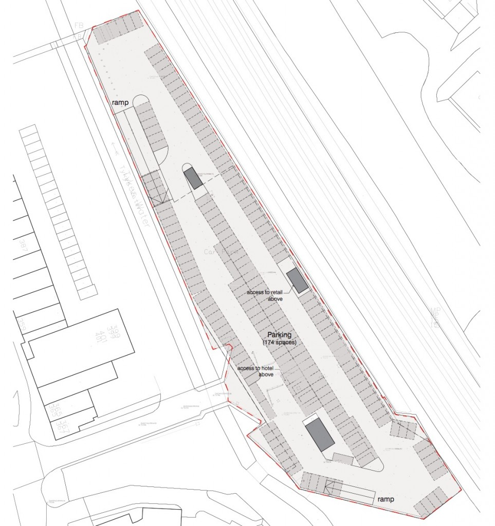 Hertsmere Council's plan of the Newberries car park development