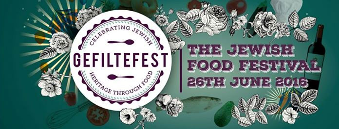 Logo for Jewish food festival Gefiltefest 2016
